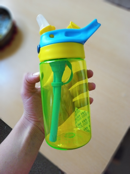 New hot Fashion 480 ml Cute Baby Water Cup Leak Proof Bottle with Straw Lid Children School Outdoor Drinking Bottle Training Cup-in Water Bottles from Home & Garden on AliExpress