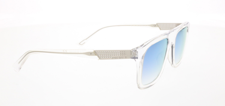 Unisex sunglasses dl 0268 26g bone transparent organic square square 52-19-145 diesel