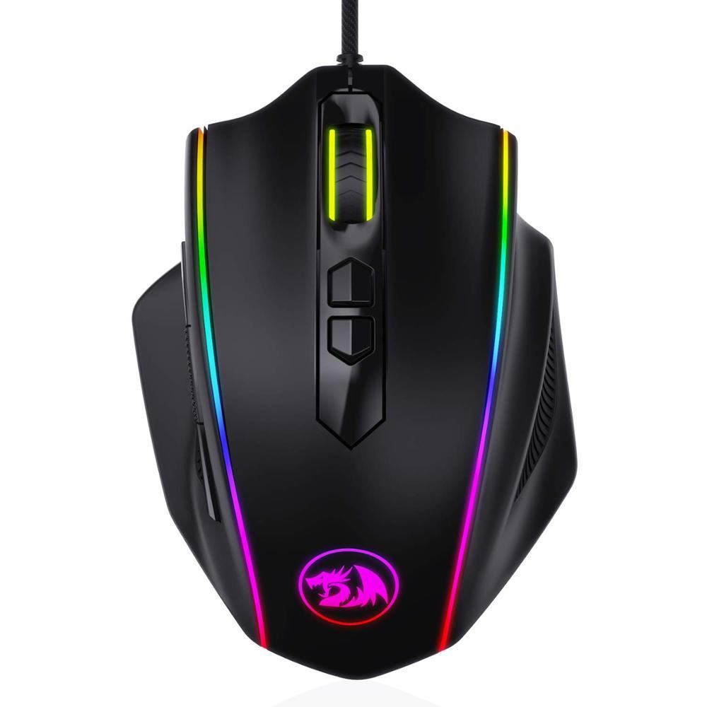 Игровая мышь Redragon M720 VAMPIRE RGB, проводная оптическая игровая мышь 10000 точек/дюйм, эргономичная Удобная ручка с макросъемкойМыши   -