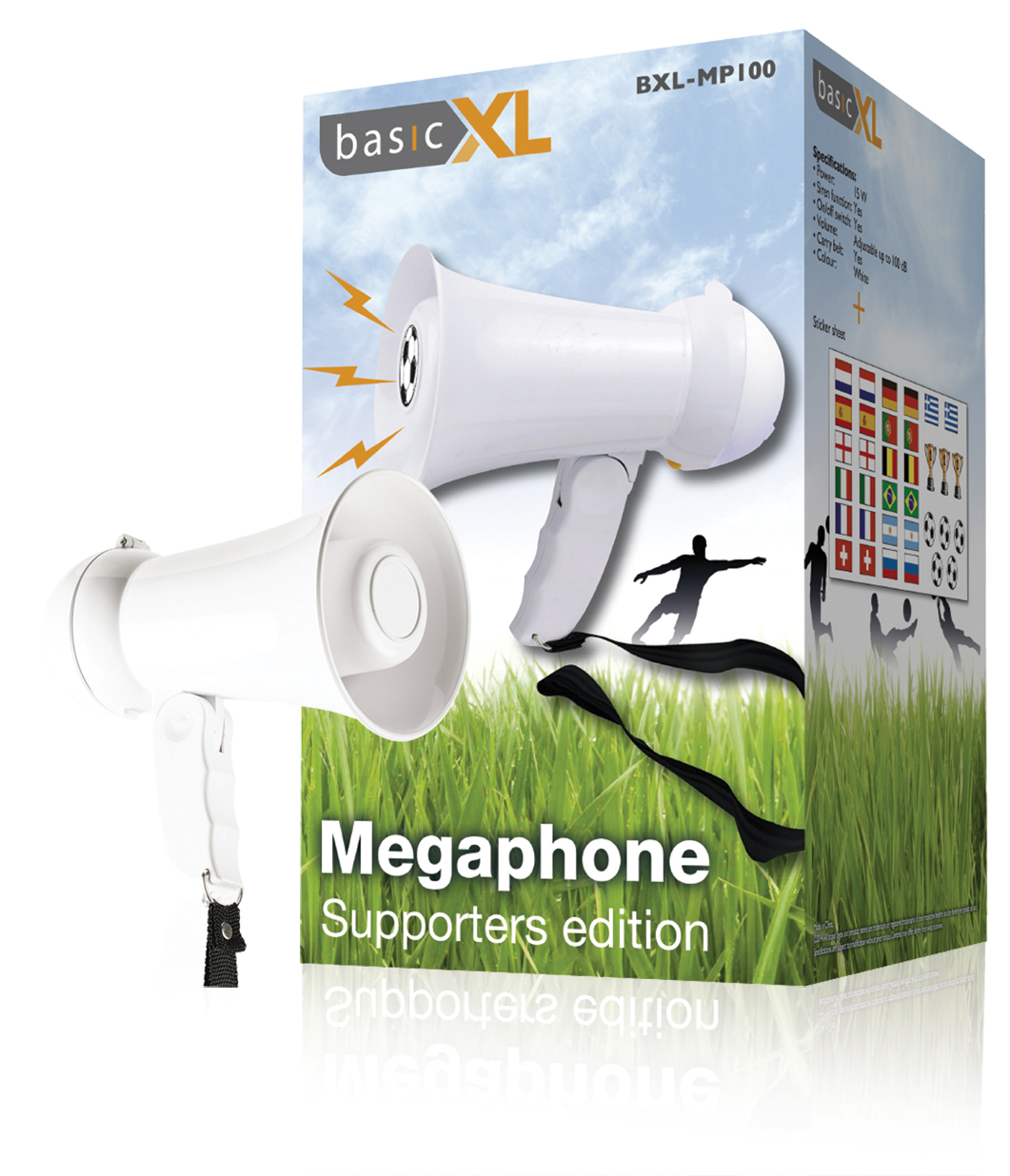 BasicXL Megaphone Edition Balloons Sports Ideal To Encourage Your Team Works Battery