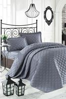 100% turkish cotton bedspread bedding set bedspread and pillow case quilting luxury bed covers bed linen anthracite solid color
