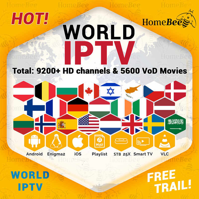 IPTV subscription 9000+Live smart tv box Europe IPTV Nederlands Sweden Israel Croatia Spain IPTV m3u for android tv box x96 mini