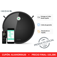 IKOHS NETBOT S15 Robot Smart Vacuum Cleaner Black Vacuum Cleaner Professional Home APP Wireless Intelligent