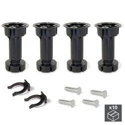 Lot of 10 kits 4 feet Bone Emuca dimmable H 120 mm in black plastic