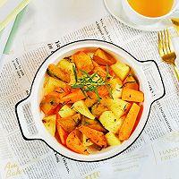 #福气年夜菜#低卡美味~做法简单~烤蔬菜的做法图解9