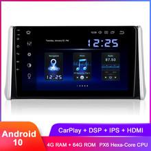 Dasaita 10 2 #8222 IPS Android 10 samochodowe Stereo GPS dla RAV4 2018 2019 2020 w desce rozdzielczej Radio samochodowe Carplay WiFi DSP Audio wideo IPS 1280 #215 720 tanie tanio CN (pochodzenie) Jeden Din 10 2 4x50W System operacyjny Android 10 0 Jpeg ABS+IRON 1280x720 4 5kg Bluetooth Wbudowany gps