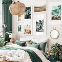 Cartel de paisaje natural de Hojas de hierba de playa Bali, decoración del hogar escandinava, lienzo, impresión decorativa, imágenes de pared, pinturas Nórdicas