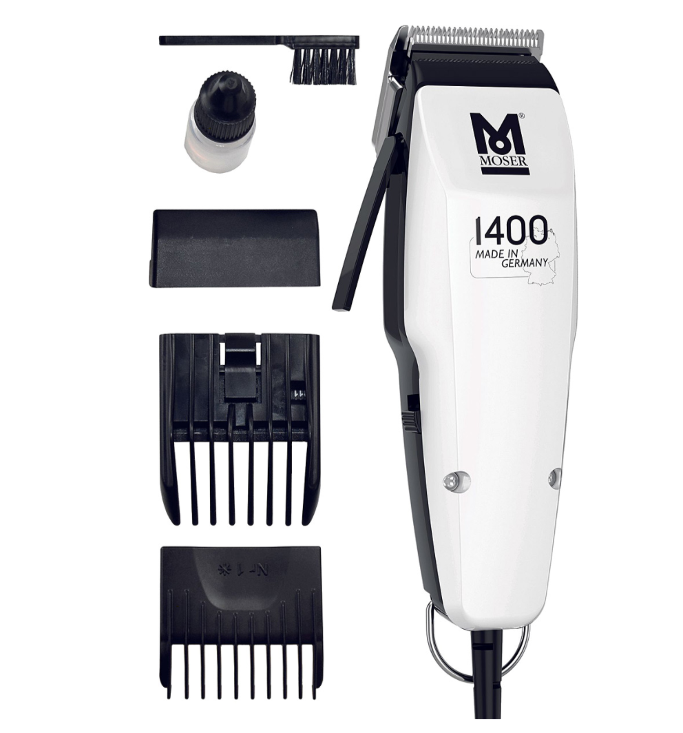 Moser 1400 White Edition Professional Hair Clipper Hair Trimmer Beard Trimmer Hair-Beard Cut Machine Kit