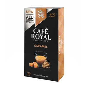 Caramel, coffee Royal 10 compatible Nespresso aluminum capsules