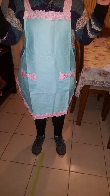 Light Blue Kitchen Textile Apron photo review