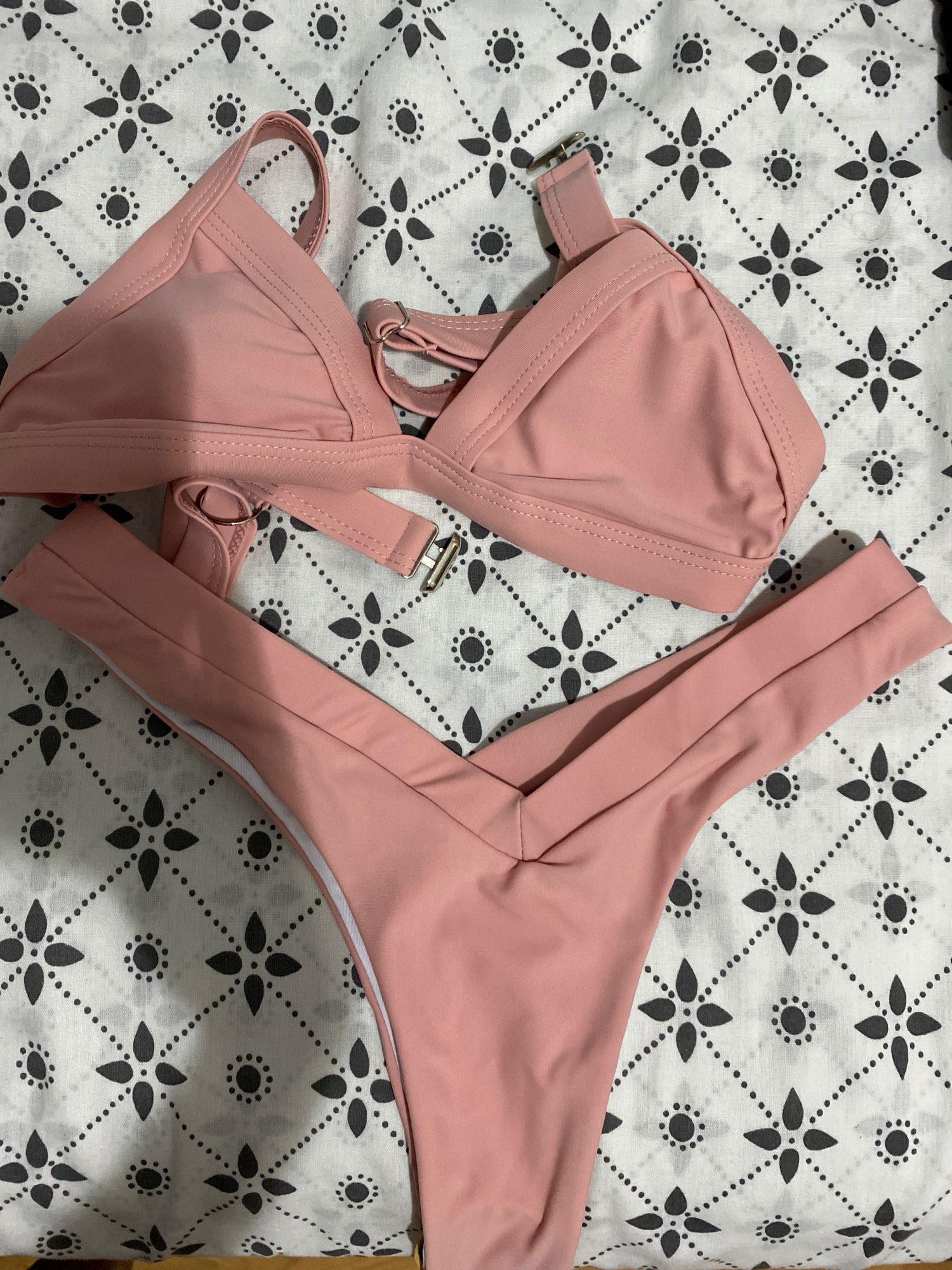 Bikini 2021 Solid Swimsuit Women Swimwear Push Up Bikini Set Patchwork Biquini Brazilian Summer Beach Bathing Suit Swim Wear|Bikini Set|   - AliExpress