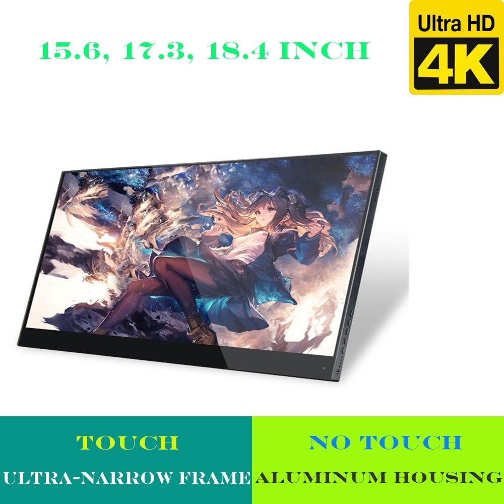 Beste tragbare 4K gaming monitor 144hz-Ultra-narrow rahmen, EIN grad panel, aluminium legierung gehäuse mit typ-c, HDMI, mini DP port