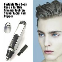 Портативный удобный мини красивый мужской электрический триммер для ушей в носу, носовой очиститель, бритва для бровей, машинка для стрижки волос на лице, безопасная