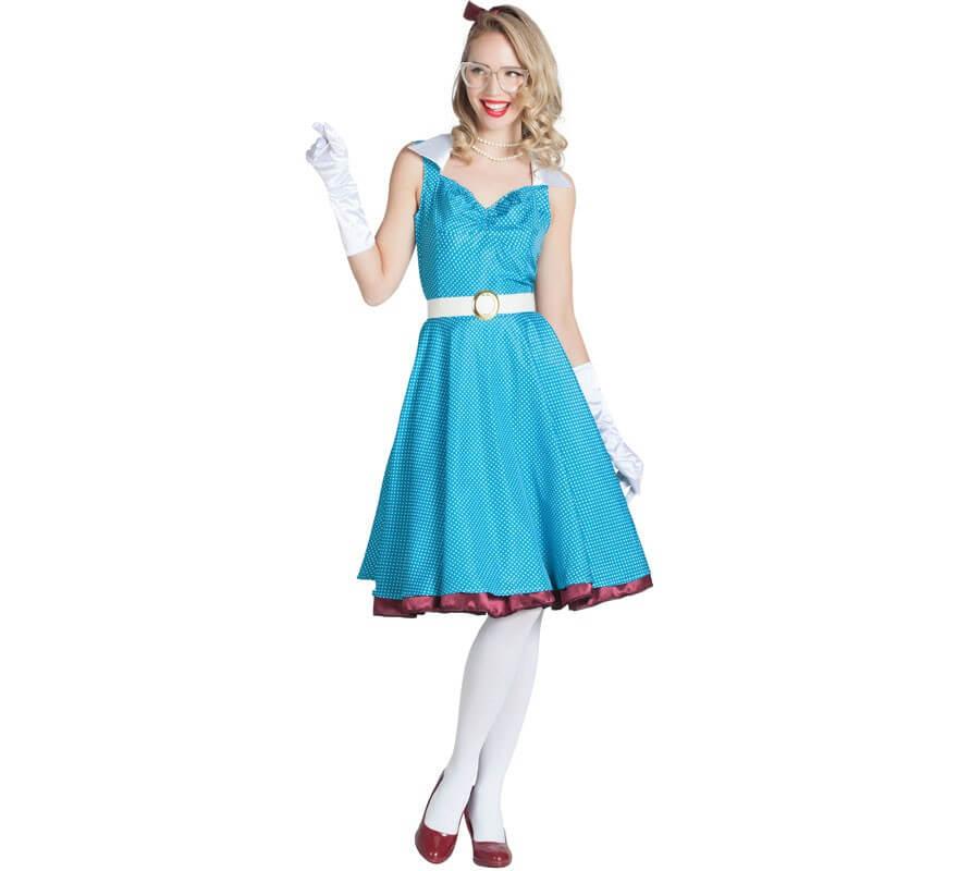 Disfraz de Chica Pin Up Azul para mujer