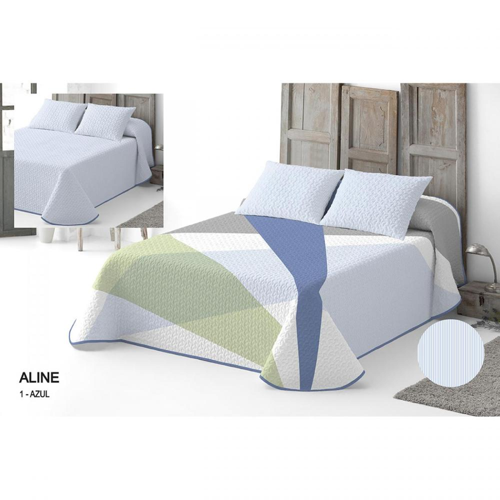 Bedspread Bouti Aline Reversible. 95% Cotton-5% Polyester.