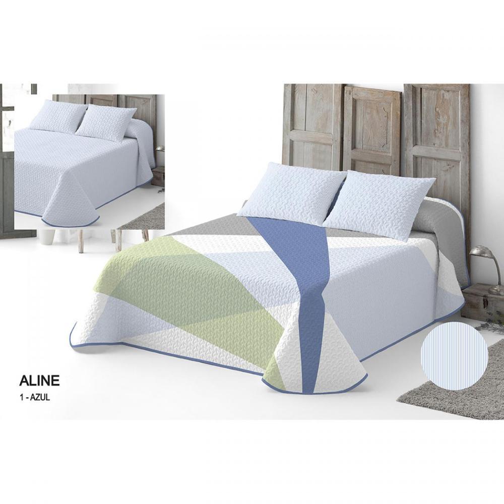 Bedspread Bouti Aline Reversible. 95% Cotton-5% Polyester.