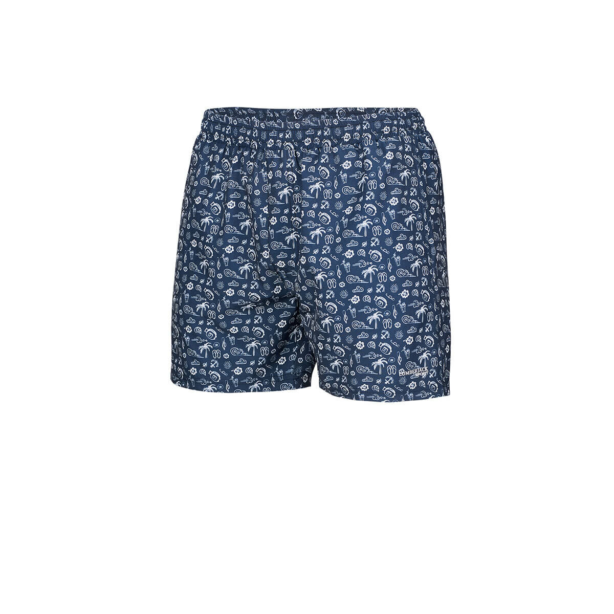 FLO BANE Dark Blue Male Shorts LUMBERJACK