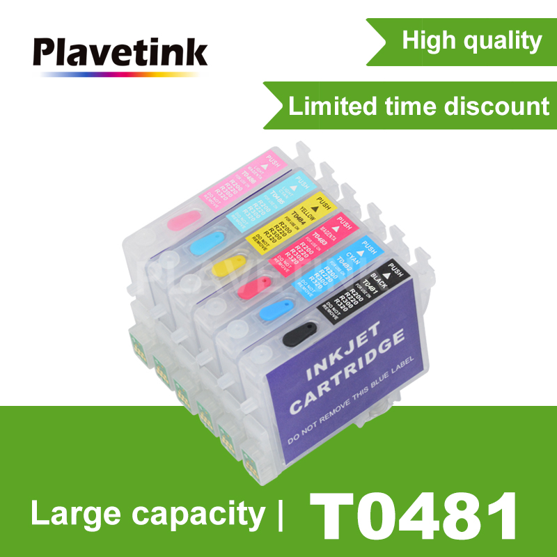 Plavetink T0481 Refill Ink Cartridge For Epson Stylus Photo R200 R220 R300 R300M R320 R340 RX500 RX600 RX620 RX640 Printer image