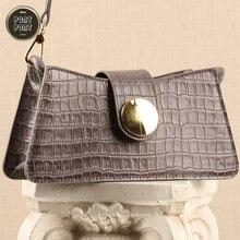 Женская модная сумка багет через плечо для женщин дизайнерская