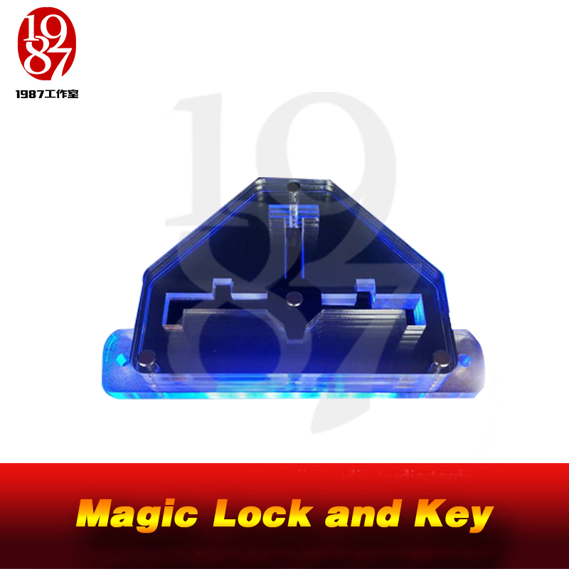 JXKJ1987 Real Room Escape Game Prop Magic Lock And Key Put The Magic Key In Right Position In The Magic Lock To Open The Door