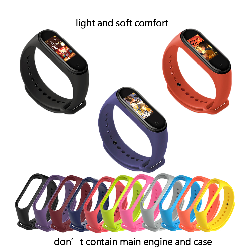 Mi Band 3 Strap bracelet Silicone Wristband xiomi band black Smart miband 4 Band Accessories wrist Strap and for Xiaomi Mi Band3