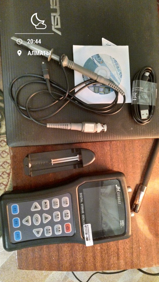 Osciloscopio JDS6031 y generador de señal portátil profesional 1CH 30MHz 200MSa/S photo review