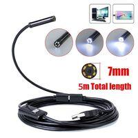 Klempner Rohr Inspektion Kamera Endoskop Video Wasserdichte Kanalisation Ablauf Reiniger UK Mini USB Endoskop 6 einstellbare weiße LED-in Tragbare Beleuchtung Zubehör aus Licht & Beleuchtung bei