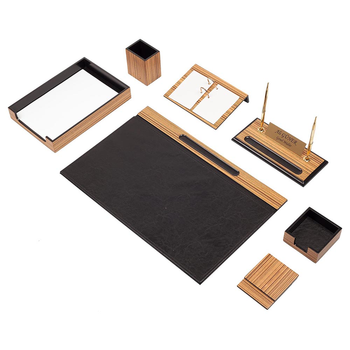 luxury-wooden-desk-set-walnut-10-pieces-desk-organizer-office-accessories-office-organizer-desk-pad-pen-case-document-tray