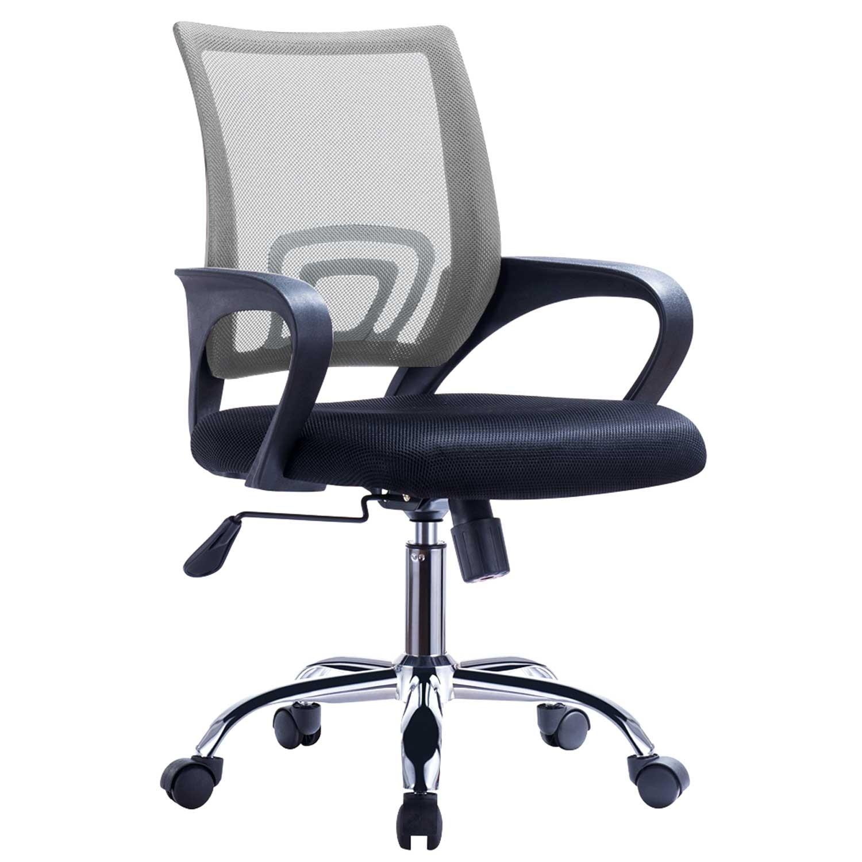 Office Armchair FISS NEW, Black, Gas, Tilt, Gray Mesh Fabric Black