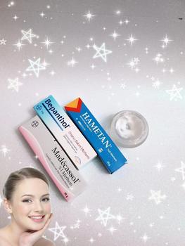 1 box in 3 tube Hametan - Madecassol - Bepanthol Cell Renewal Anti-aging cream Cell regenerating rejuvenating cream recipe