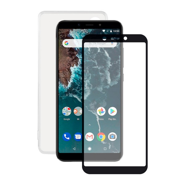 Tempered Glass Mobile Screen Protector + Mobile Case Xiaomi Mi A2 Contact|  - title=