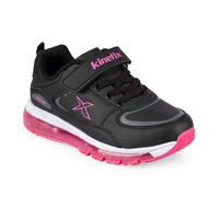 FLO LONAIR 9PR Black Female Child Running Shoes KINETIX
