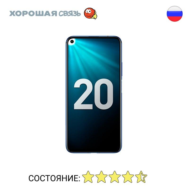 Телефон Honor 20 Ram 6Gb 128Gb, уцененный, б/у, Отличное Состояние