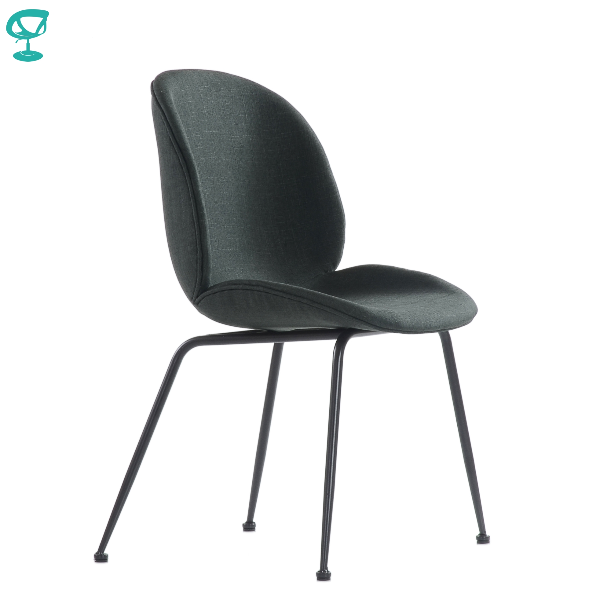 95740 Barneo S-17 Kitchen Chair On Metal Legs Seat Fabric Chair For Living Room Chair Dining Chair Furniture For Kitchen