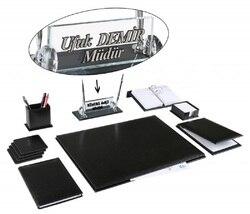 AKSU офисный бизнес кожаный стол набор блокнот набор именная табличка набор и хрустальный стол табличка