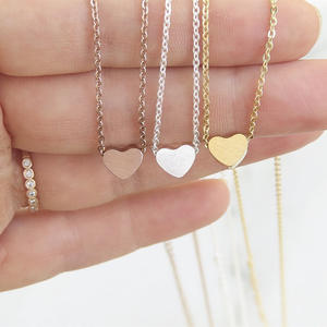 Pendant Necklace Bridesmaid Gifts Stainless-Steel Clavicle-Chain Fashion Jewelry Gold-Color