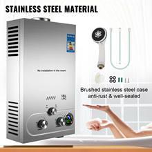 Calentador de agua caliente sin depósito para Gas propano LPG, 18L, Kit de ducha para caldera