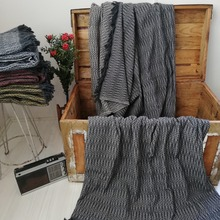 Soft Cotton Woven Wool Patterned Fleece Pique Tv Blanket Sofa Cover Warm Warm Blanket