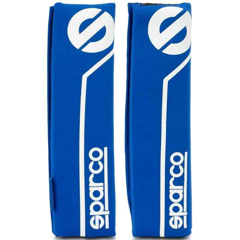 SPC1200-Set 2 coussinets de ceinture Sparco S line bleu pour voiture