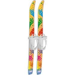 Kinderen ski's Ski pyzhiki Handvat met stokken in de grid (75/75)