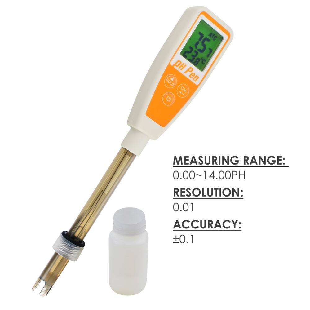 Цифровой измеритель pH температуры ручки 14,00 pH диапазон 12 см датчик качества воды тестер самокалибровка для аквариума бассейна