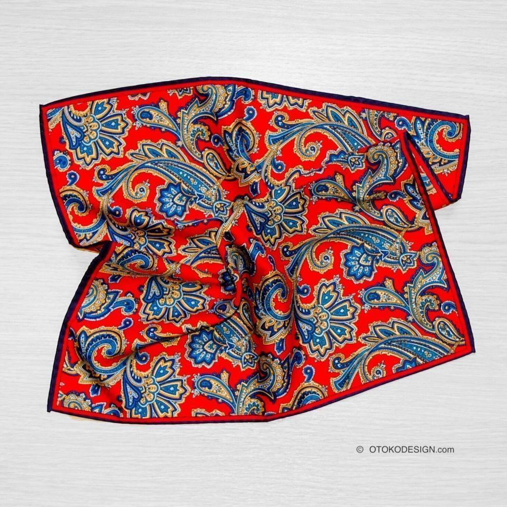Silk Pocket Square Red (50931)
