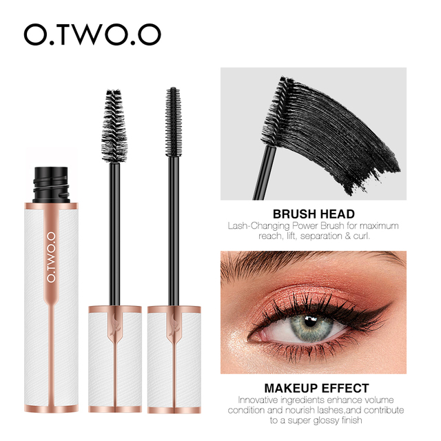 O.TWO.O Mascara Waterproof 4D Silk Fiber Curling Volume Lashes Thick Lengthening  Nourish Eyelash Extension High Quality Makeup 2
