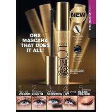 5 in 1 True Lash Genius Black Mascara Volumizing Eyelash Care Mascara Waterproof Eyelash Extension Long lasting