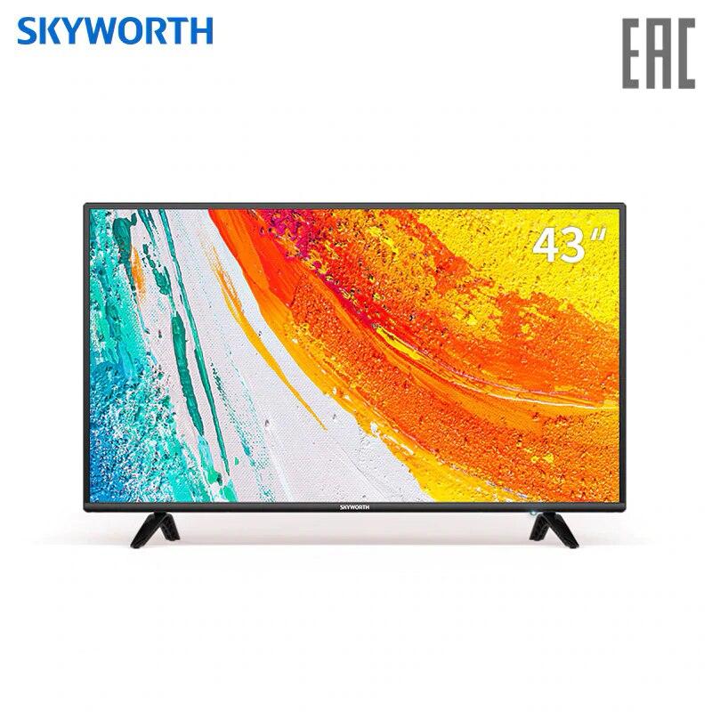 TV sets LED clear TV  Skyworth 43E2A 43 4049InchTv FHD DOLBY dvb dvb-t dvb-t2 digital television цена