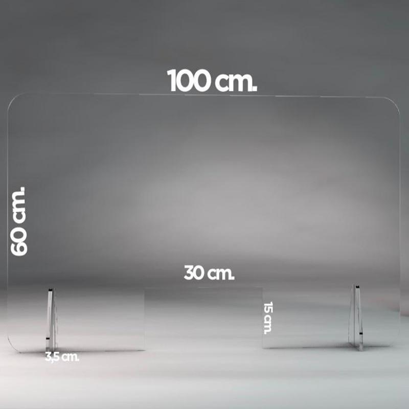 Contador transparente do protetor da proteção da tela de perspex