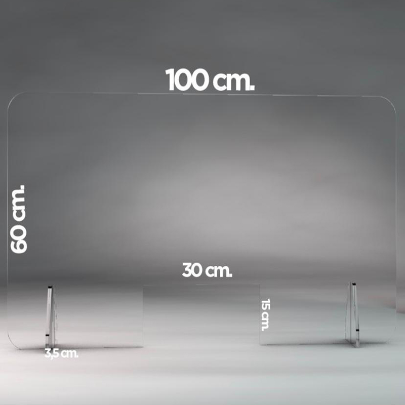 Transparent Perspex Screen Protection Guard Counter