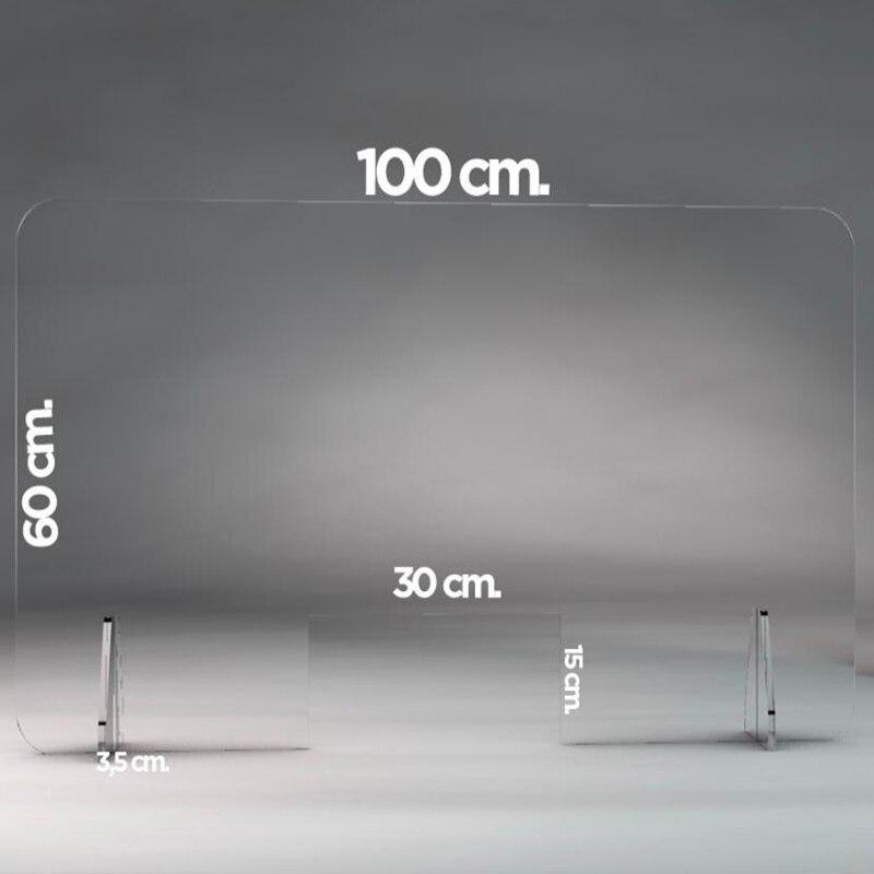 Transparente plexiglas bildschirm schutz wache zähler