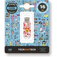 Pendrive tech one tech emojis heart eyes 16 ГБ-usb 2 0
