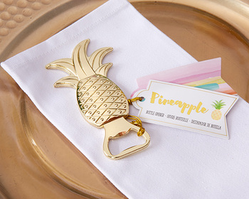 Lot 20's Openers Bottles Pineapple Tropical-Details and gifts for weddings, christening suits, communions, birthday and holiday.